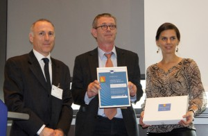 f.l.t.r.: Paolo Bertoldi (JRC – European Commission), Ing. Christian Ecker (EcoProjekt), Andrea Leitner (Mondelez Österreich GmbH)
